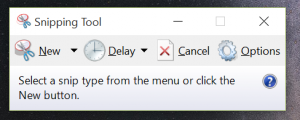 new and improved snipping tool
