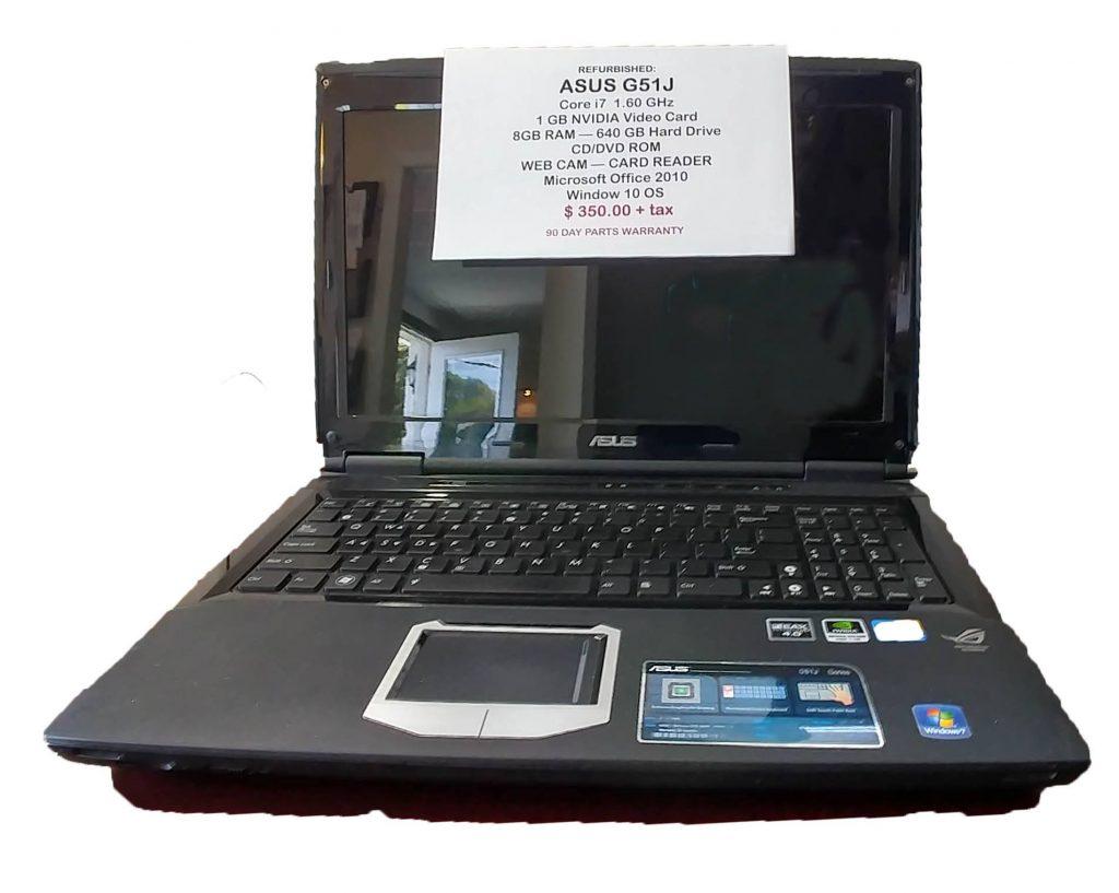 Asus G51j Gaming Laptop